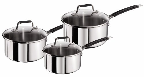Tefal Jamie Oliver Stainless Steel Classic Series Cookware Set, 3 Pieces - Silver