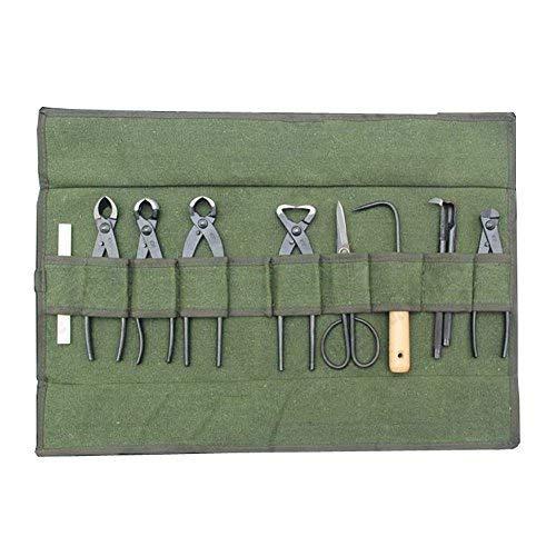 Belastbares Leinen Bonsai Werkzeug Rolle Aufbewahrungstasche mit 10Taschen für Garten Tragbares Kompakt hgj40