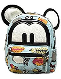Modelshow Children's Painted Cartoon Colorful Canvas Big Ears Schoolbag Backpack Daypacks