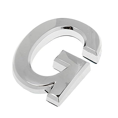 MagiDeal Sticker Lettre A-Z Autocollant Signe Adhésive Plastique pour Bureau Hôtel Maison Argent - G