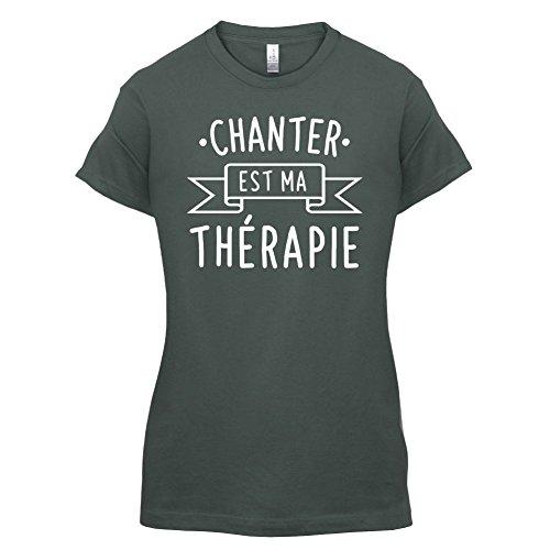 Chanter est ma thérapie - Femme T-Shirt - 14 couleur Gris Foncé