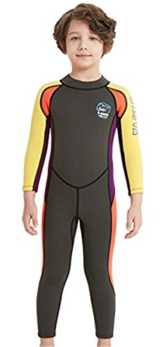 Kinder Mädchen Neoprenanzug 2.5MM Neopren Lang Wetsuit Schwimmanzug Wärmehaltung Tauchanzug Badeanzug Wetsuit für Wassersport Diving Suit