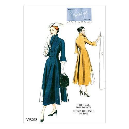 Vogue Patterns Schnittmuster Kleid, Tissue, Mehrfarbig, 15x 0,5x 22cm Vintage Vogue