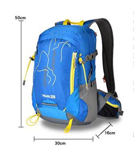 Bergsteigen Rucksack Reisen Schulter Tasche Reiten Tasche 25L Blue