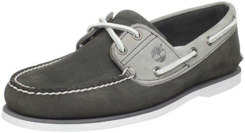 Timberland Men's Classic 2 Eye Boat Shoe,Black,7.5 W US -