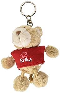 NICI n15799-Llavero Oso con Camiseta Erika, Rojo