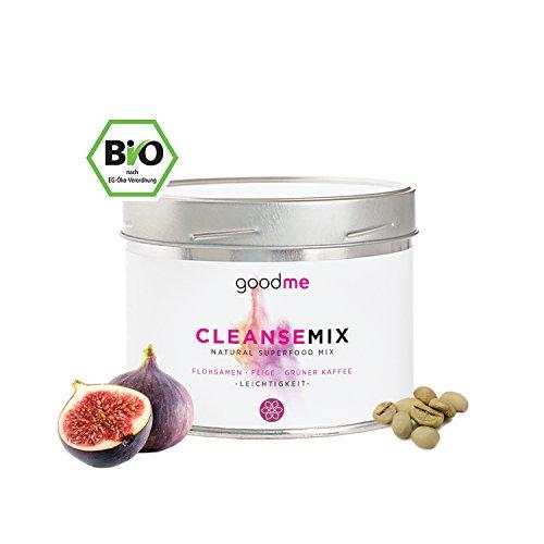 cleansemix Pulver – 100% Bio Superfood mit Flohsamen für planzliche Darmreinigung, Fettverbrennung und Abnehmen