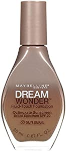 Maybelline New York Dream Wonder Fluid-Touch Foundation, Sun Beige, 0.67 Fluid Ounce by Maybelline New York