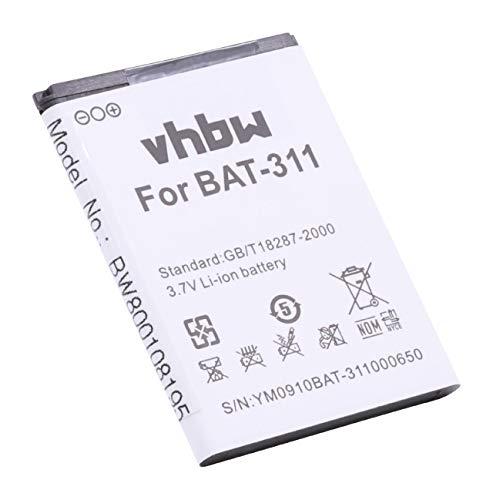vhbw Batterie Li-ION 1400mAh (3.7V) pour téléphone Portable Smartphone Acer Liquid M220, Z200, Z220 comme BAT-311, BAT-311(1ICP5/43/55), KT.0010S.011.