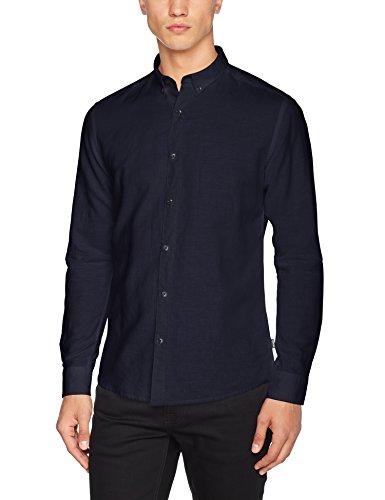 Only & Sons Onsclata Linen Ls Shirt Noos, Chemise Business Homme Bleu (Maritime Blue)