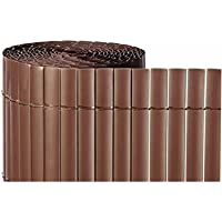 Jardin202 2x3m - CAÑIZO PVC Simple Cara Marron Chocolate 900gr/metro Cuadrado