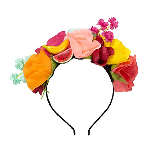 Fiesta; Blumen- und Obstgeschmückter Haarreif für Festivals, Geburtstage und Sommerpartys; Bunt ()