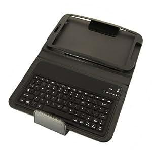 DBPower Souris sans fil sans fil Bluetooth étui clavier QWERTY Bluetooth pour Samsung Galaxy Tab 38.0T310T311Noir/Rose