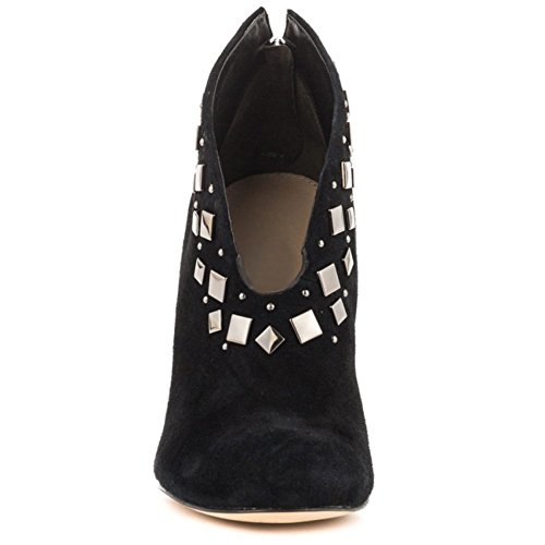 Kolnoo Damen V-Ausschnitt Design Schuhe Spikes 10cm High Heel Stiefeletten Schuhe Black