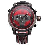Shark Herren Armbanduhr 24 Stunden Zifferblatt XXL 5cm Extragroßes Uhrgehäusemilitär Sport SH207
