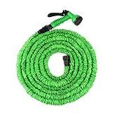 immagine prodotto Tacklife Tubo Giardino Magico, con Ugello Spruzzo & Connettore Plastico, 5M con una Lunghezza di 15M Elasticizzato, Verde - SPREEY