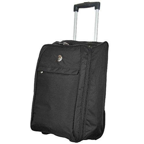 Handgepäck Trolley AIRLINE CABIN Flight Zip Tasche Rädern Carry On Koffer NEU schwarz (Airline-carry-on Taschen)
