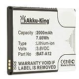 Akku-King Akku ersetzt Acer BAT-A12, BAT-A12(1ICP4/51/65), KT.00104.002 - Li-Ion 2000mAh - für Acer Liquid Z520, Liquid Z520 Dual SIM