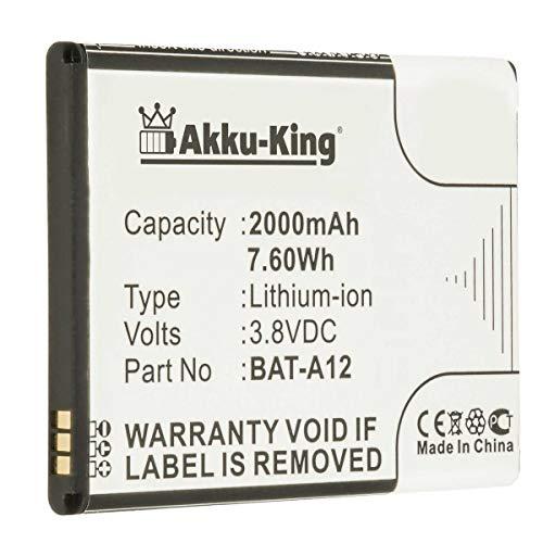 Akku-King Akku kompatibel mit Acer BAT-A12, BAT-A12(1ICP4/51/65), KT.00104.002 - Li-Ion 2000mAh - für Acer Liquid Z520, Liquid Z520 Dual SIM