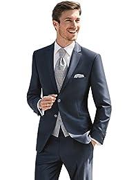 Hochzeitsanzug der Marke Wilvorst, mitternachtsblau, in einer minimalen Nadelkopfmusterung, Slimline