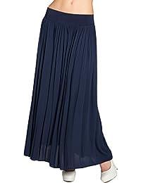 CASPAR RO012 leichter langer Damen Sommerrock