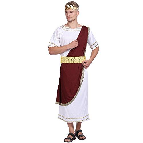 Mann Kostüm Griechischer Gott - EraSpooky Erwachsener Kaiser von Rom Caesar Kostüm griechischer Gott Karneval Kostüm