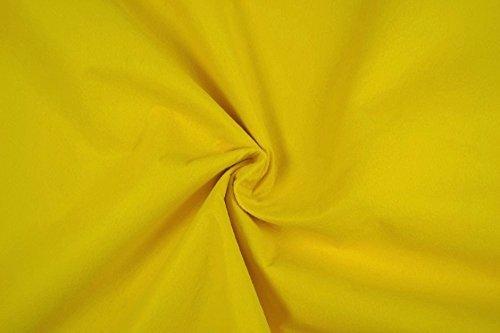 Fabrics-City FILZ STOFF 1MM-90CM DEKO BASTELN BEKLEIDUNG STOFFE, 4551 (Gelb)