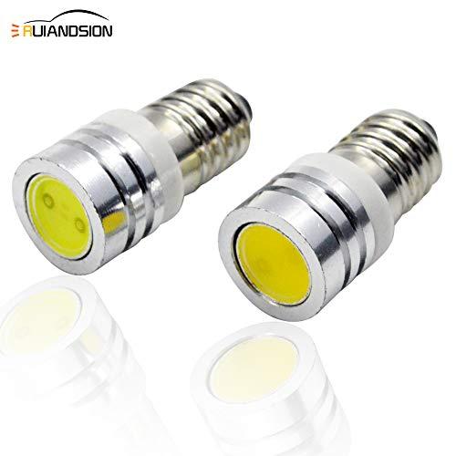 Ruiandsion - Bombillas LED de 3 V E10 para linterna, 4 unidades, superbrillantes, COB, color blanco, Warm White 2.00W 3.00V