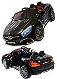 Kinderfahrzeug 12V Kinder Elektro Auto Mercedes SL65 AMG Coupe Eva Gummiräder Ledersitz 2,4 GHZ schwarz