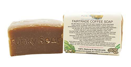 Funky Soap Fairtrade Kaffee Seife, 100% Natürlich Handgemacht, 1 bar Of 120g - Natürliche Glycerin Seife