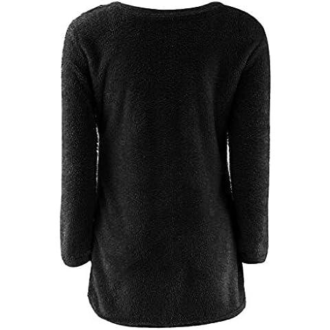 Suéter GillBerry mujeres Casual Sólido Manga larga Jerseys puente de la blusa