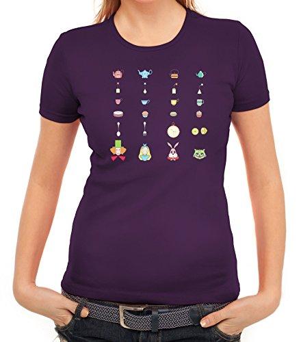 Märchen Fairy Tale Damen T-Shirt mit Wonderland von ShirtStreet Lila