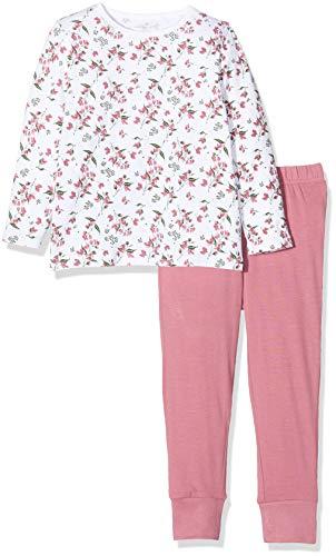 Name IT NOS Baby-Mädchen 13173282 Zweiteiliger Schlafanzug, Mehrfarbig(Heather RoseHeather Rose), 86 (Herstellergröße: 86-92)