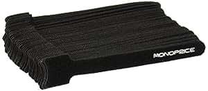 Monoprice Hook & Loop Fastening Cable Ties, 6-inch, 50pcs/pack, Black