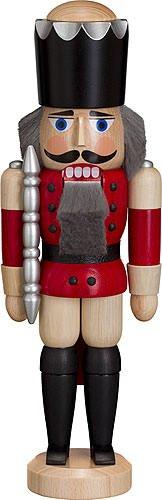 Nussknacker 'König' ca. 29 cm Esche lasiert rot