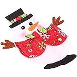 38da19c15 MoGist Navidad Cubiertos Juego de Soporte Ovalado navideño película de  Figura Bolsillos Cubiertos y Bolsa de