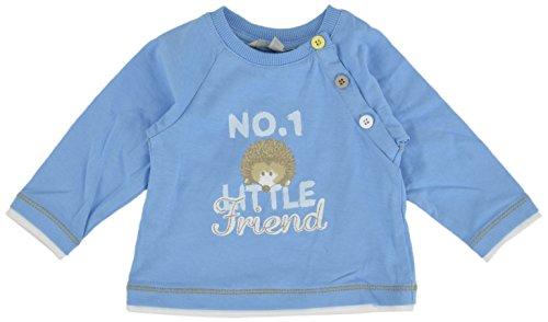 Kanz Kanz Baby - Jungen T-Shirt 1512441, Einfarbig, Gr. 68, Blau (Alaskan Blue Blue 3350)