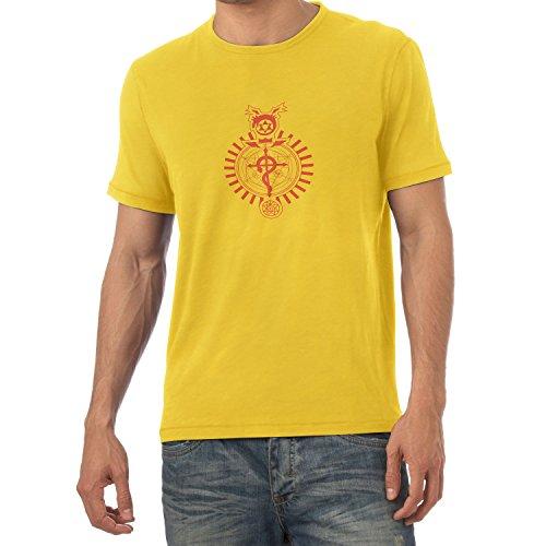 Adams Sam Kostüm - NERDO - Winchester Symbols - Herren T-Shirt, Größe S, gelb