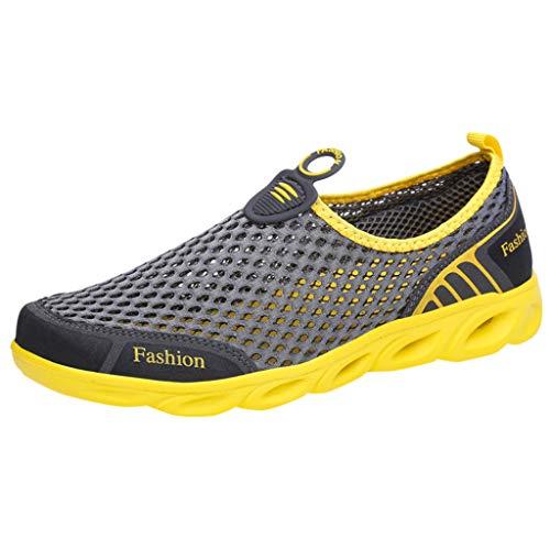 door Mesh Wanderschuhe Atmungsaktive Soft Bottom Running Gas Sportschuhe Casual Fitness Schuhe Tennis Socke Gym Schuhe ()