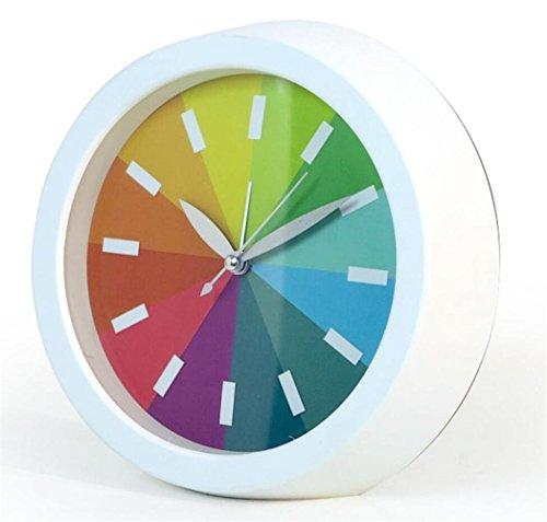 Art- und Weiseregenbogen-Wecker-kreativer ultra-ruhiger kleiner Wecker , white