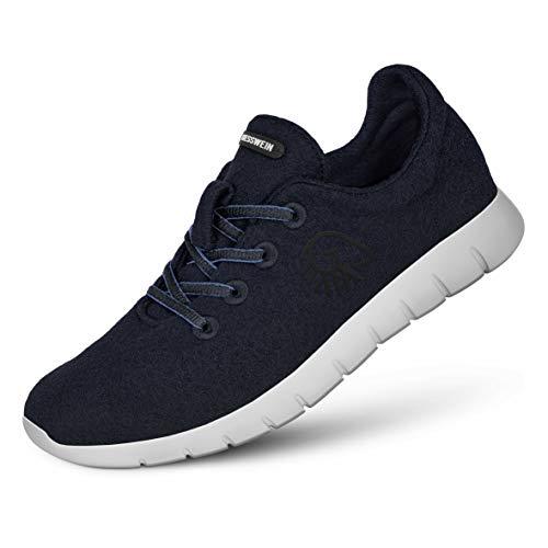 Giesswein Damen Schnuerschuhe Merino Wool Runners Woman 49300/548 blau 463747