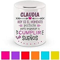 Hucha Cerámica/Texto Personalizado/Regalo Original/Mujer/Chica/Madre/Mamá/Novia/Pareja/Amiga/Día de la Madre/Cumpleaños/Aniversario/Navidad