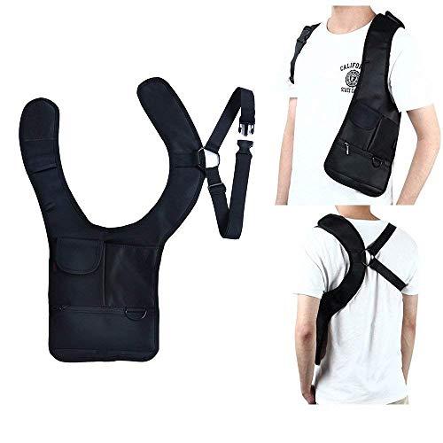 Jhua borsa da viaggio tipo fondina di sicurezza antifurto da fissare con cinghie alla spalla