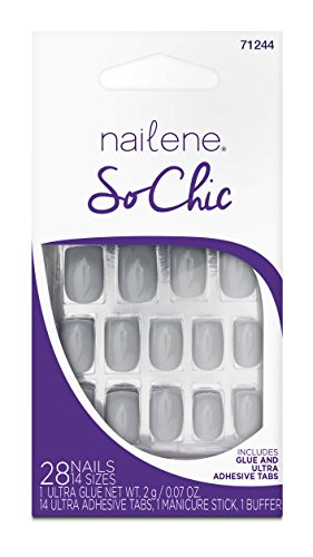 Nailene So Chic ongles, gris clair brillant