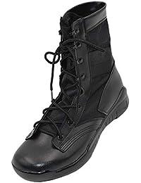 Yudesun Homme Rangers Chaussures - Travail Militaires Combat Bottes  Cheville Tactique Plateforme Cuir Lacets Armée de 1648e7ea4a20