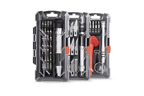 WOLFGANG 3 in 1 Hobby Werkzeugset | Präzisionsschraubendreher Set und Bastelmesser Skalpell Set | Hobby, Modellbau, DIY, Reparatur und Wartung von Smartphones, Laptop, PC, Uhren, Brillen