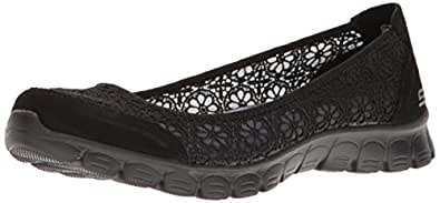 Skechers Women's EZ Flex 2 Flighty Ballet Flats, Black (bbk), 2 UK