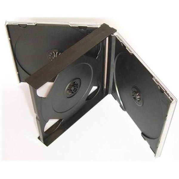 Tillmann Media Cd Leerhüllen Jewelcase Für 4 Cd Dvd Transparent Tray Schwarz Kartoninhalt