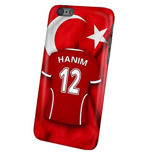 PhotoFancy – iPhone 6 Plus / 6s Plus Handyhülle Premium – Personalisierte Hülle mit Namen Hanim – Case mit Design Fußball-Trikot Türkei EM 2016