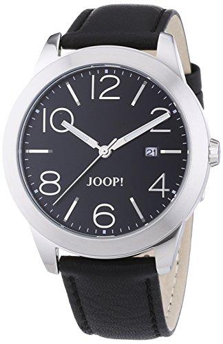 Joop! 0 - Reloj de cuarzo para hombre, con correa de cuero, color negro